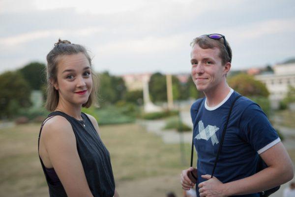 Před premiérou Palacha - Viktor Zavadil a Denisa Barešová